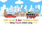 Tốp 10 xe 'ế ẩm' tháng 2: hãng Toyota chiếm sóng