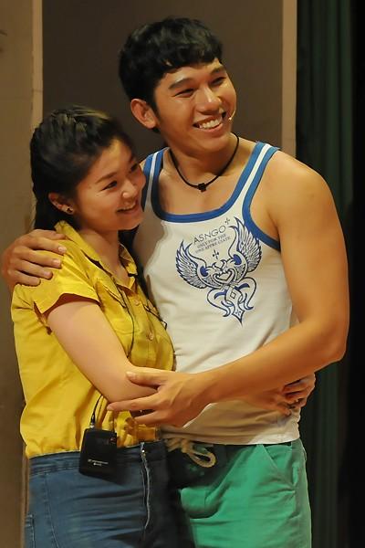 Người mẫu Ngọc Tình tham gia vào một vai diễn trong vở kịch 'Chuyện của Điệp'.