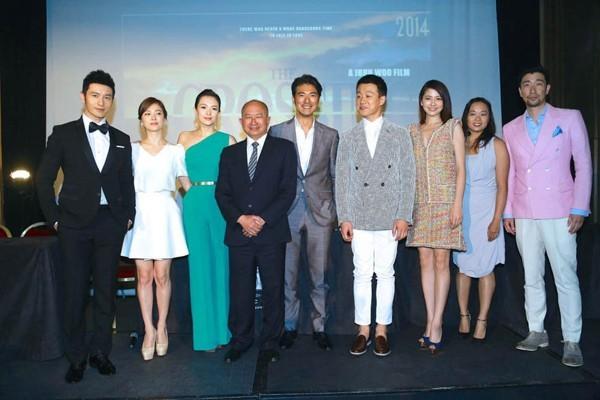 Hôm 17/5, Song Hye Kyo cùng Huỳnh Hiểu Minh, Chương Tử Di, Kim Thành Vũ và đạo diễn Ngô Vũ Sâm có buổi họp báo ra mắt bộ phim được kỳ vọng The Crossing nằm trong khuôn khổ LHP Cannes lần thứ 67 đang diễn ra.