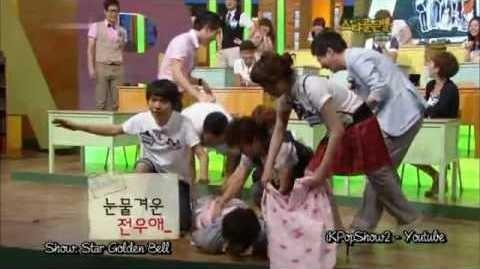 Lee Joon (MBLAQ) cũng được phen đỏ mặt vì vũ đạo quá đà. Xuất hiện trên chương trình Star Golden Bell, anh làm động tác xoạc chân hình chữ Y. Chiếc quần có lẽ không được thiết kế để co giãn nhiều, nên đã toạc ngay phần khó nói khiến tất cả những ai chứng kiến cười ồ. Các khách mời vội vàng lao ra, cầm khăn che và giải cứu Lee Joon.
