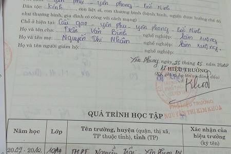 hiệu phó, nằm viện, mất trường, Bắc Ninh, bức xúc, đuổi việc, ra đường