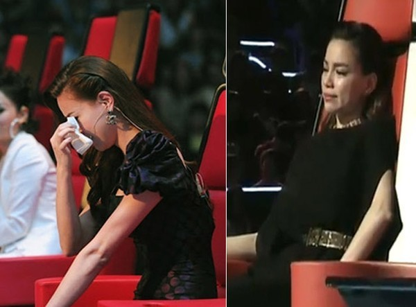 Hồ Ngọc Hà mạnh mẽ là vậy nhưng cũng không ít lần trân mình rơi nước mắt tại The Voice.