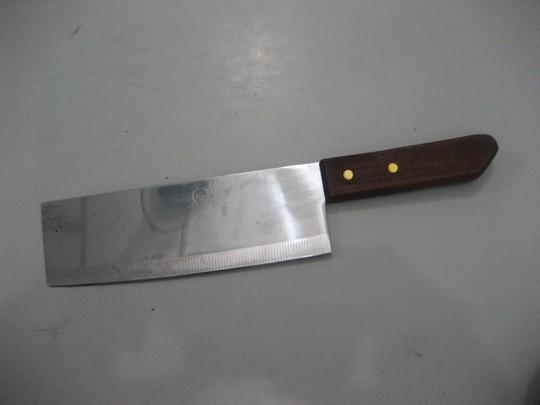 Một trong hai con dao mà Thái dùng để gây án