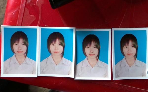 Những tấm ảnh thẻ của Châu mà gia đình vẫn còn giữ.