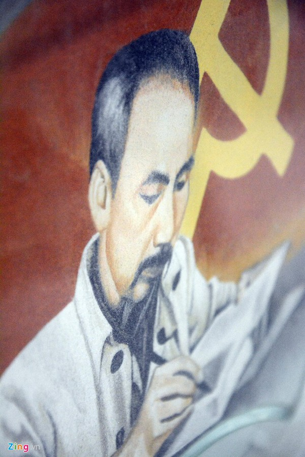Thông qua những bức tranh cát về Bác Hồ, anh muốn bày tỏ lòng thành kính với vị lãnh tụ kính yêu của dân tộc.