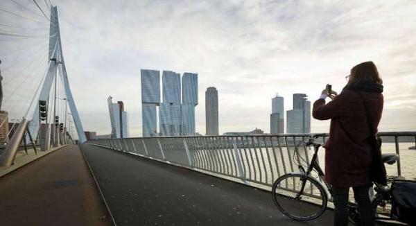 Thành phố Rotterdam của Hà Lan.