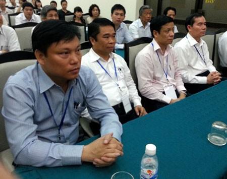 Các ứng viên thi tuyển Tổng cục trưởng Tổng cục Đường bộ Việt Nam hồitháng 4/2014.