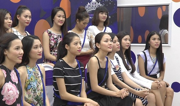 Các thí sinh Hoa khôi áo dài Việt Nam