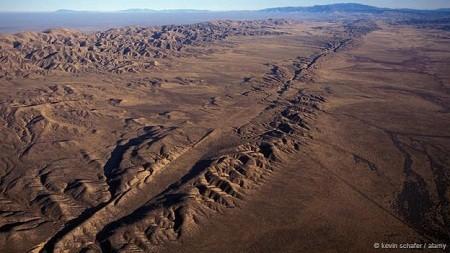 Núi đá đứt gãy San Andreas, bang California, Mỹ: