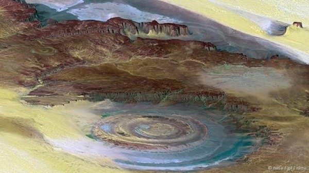 Con mắt của sa mạc Sahara, Mauritania: