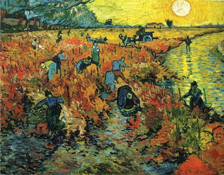 Sắc đỏ trong tranh Van Gogh dần chuyển sang sắc trắng