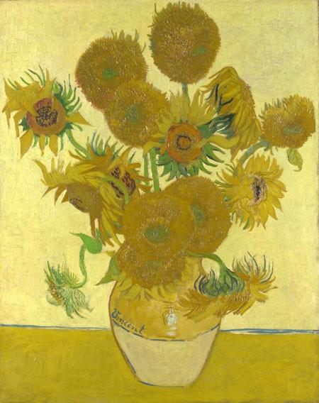 Hoa hướng dương trong tranh Van Gogh bị đột biến gen