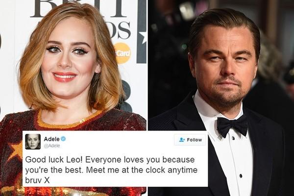 Adele chúc Leonardo DiCaprio đoạt Oscar