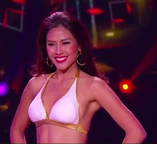Nguyễn Loan nổi bật với số đo thể hình chuẩn, săn chắc cùng với kĩ năng catwalk của mình, cô thật sự đã làm hài lòng sự kì vọng của các fan. Ảnh VIETNAMNET.