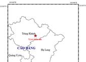 Chỉ trong 3 giờ, Cao Bằng xảy ra hai trận động đất