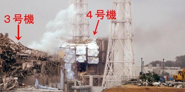 Les réacteurs numéro 3 et 4 de la centrale de Fukushima Dai-Ichi.