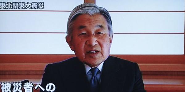 Japon : l'empereur Akihito intervient à la télévision