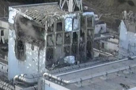 Le réacteur 4, sur une image prise hier.