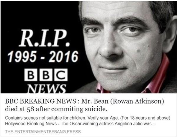 Năm 2016 bị đưa tin tự sát…