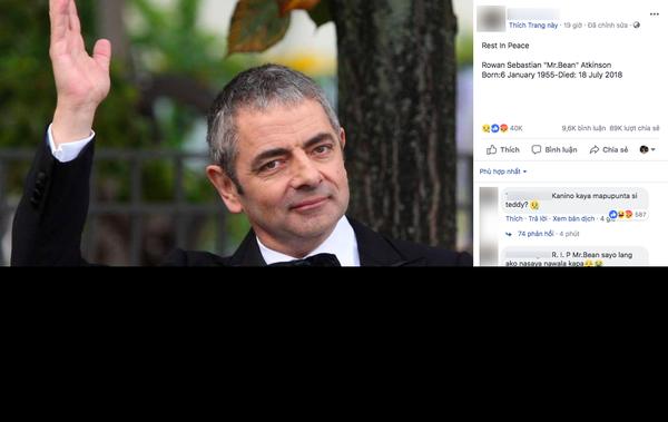 Mr. Bean Rowan Atkinson đột ngột qua đời có đúng hay không? - Ảnh 1.