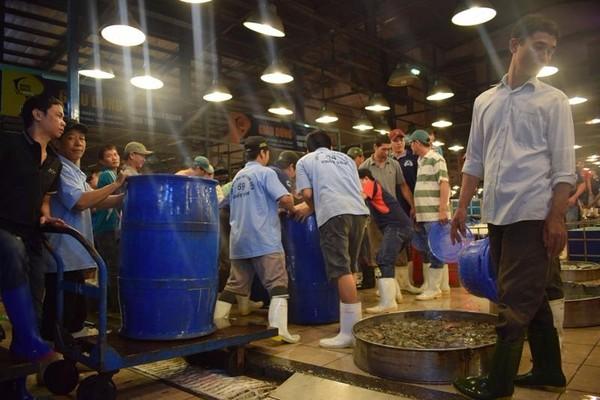 khu chợ hải sản Bình Điền