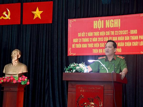 Thiếu tướng Đỗ Minh Dũng, Phó cục trưởng cục PCCC  cho rằng công tác PCCC trên địa bàn TP còn bộc lộ không ít tồn tại