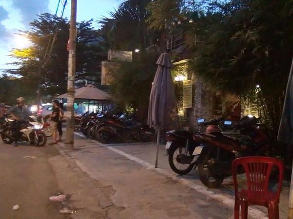 Quán cà phê nơi xảy ra vụ việc ở quận Bình Tân.