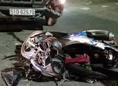 Thanh niên trọng thương khi tông vào đầu xe tải ở KCN Vĩnh Lộc