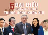 5 đại biểu trong lĩnh vực tư pháp vào Trung ương khóa XIII