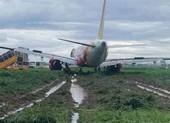 Máy bay trượt khỏi đường băng: Tất cả hành khách đã an toàn