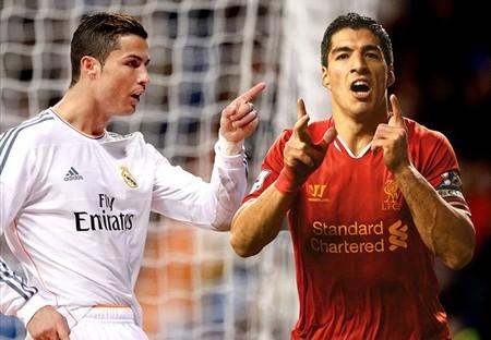 Suarez và C.Ronaldo đang cạnh tranh quyết liệt trong cuộc đua Chiếc giày vàng