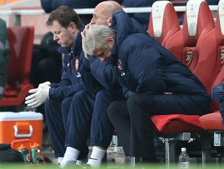 Sự thất vọng của Wenger trước màn trình diên của các học trò
