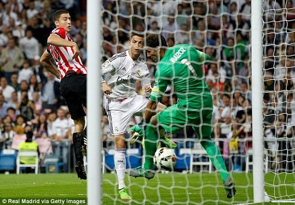 C.Ronaldo nhanh chóng mở tỷ số cho Real Madrid ngay phút thứ hai