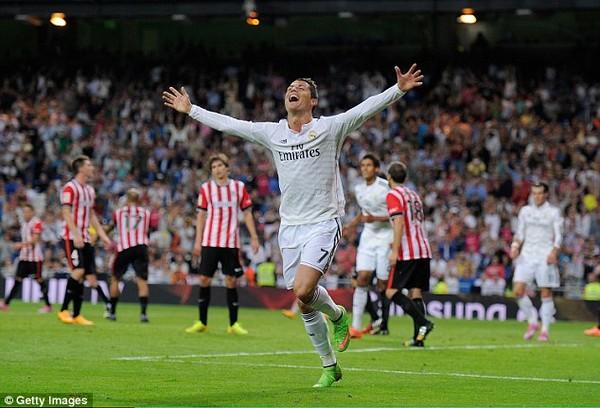 Siêu sao người Bồ Đào Nha đã có được cú hattrick thứ 22 cho Real Madrid