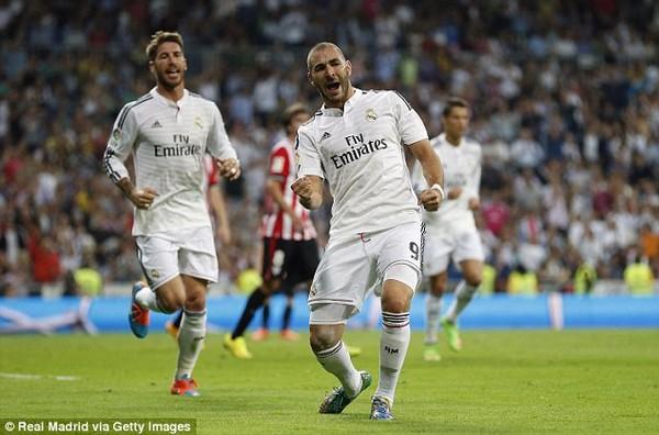 Benzema cũng để lại dấu ấn với một cú đúp