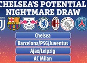 Chelsea đối mặt bảng tử thần ở Champions League