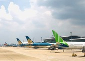 Hàng loạt chuyến bay bị hủy do bão số 5