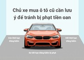 Chủ xe mua ô tô cũ cần lưu ý để tránh bị phạt tiền oan