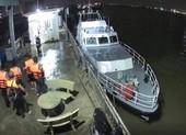 Tàu cao tốc chìm trên sông Nhà Bè do va chạm với phao