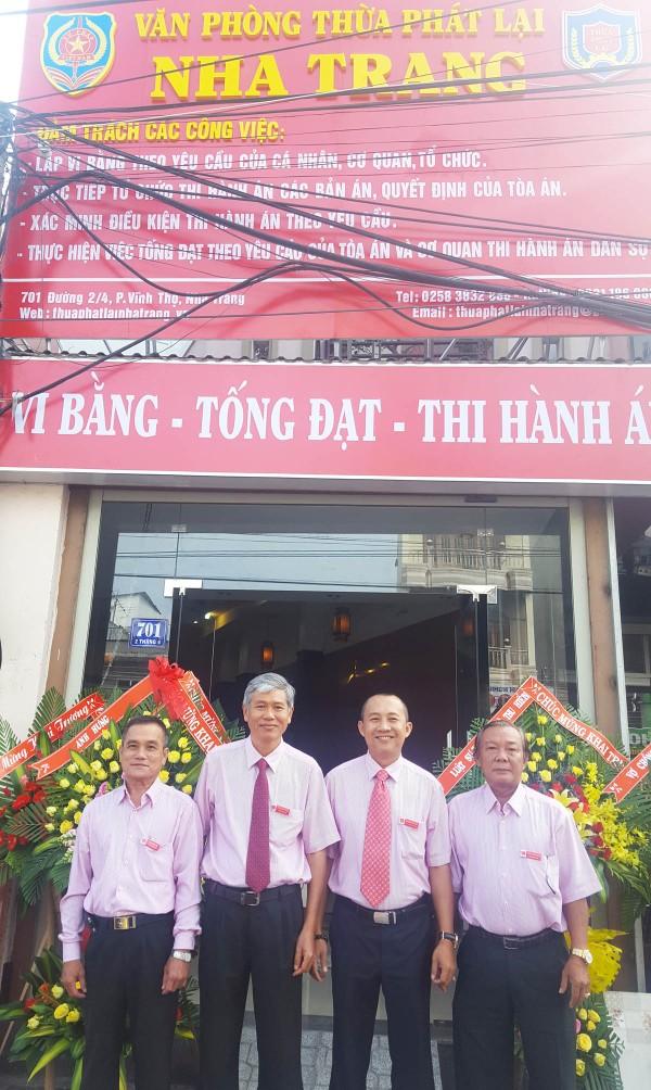 Khánh Hòa có văn phòng thừa phát lại đầu tiên