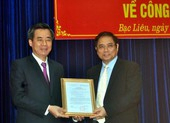 Ông Nguyễn Quang Dương là bí thư Bạc Liêu