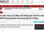 Cà Mau tiếp tục làm rõ vụ tiệm vàng Hoàng Khiêm nghi trốn thuế