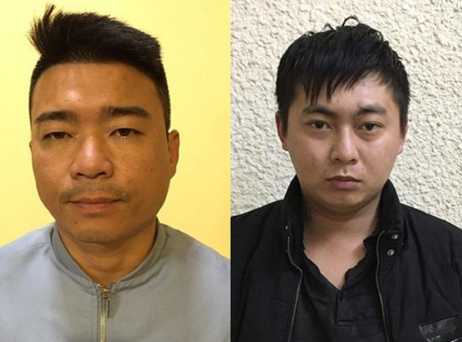 Hai bị can Chu Danh Giang (trái) và Nguyễn Trọng Toại. Ảnh: CACC
