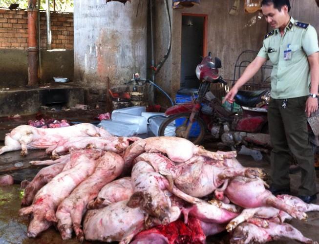 Phát hiện nửa tấn thịt heo thối tại Đồng Nai