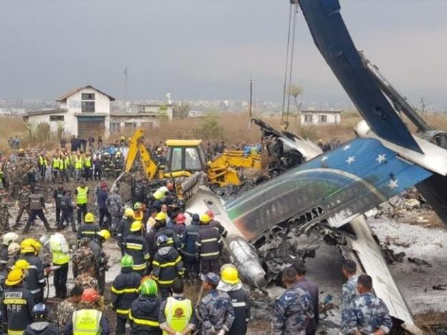 Máy bay rơi ở Nepal: Ít nhất 49 người chết