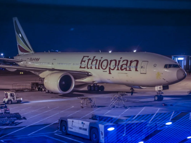 Hãng hàng không Ethiopian Airlines quyết không dừng các chuyến bay đến Trung Quốc. Ảnh: SHUTTER STOCK