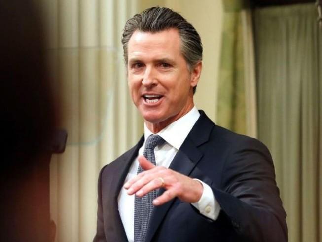 Thống đốc bang California Gavin Newsom lệnh cho 40 triệu dân ở nhà để tránh lây lan dịch bệnh COVID-19. Ảnh: REUTERS