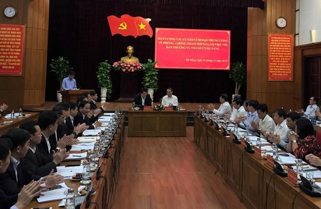Đoàn công tác của BCĐ Trung ương về PCTN làm việc với Đà Nẵng