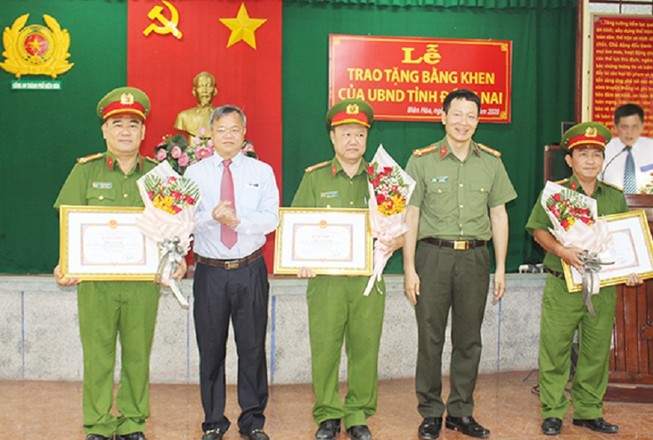 Đồng Nai khen thưởng đột xuất Công an TP Biên Hòa