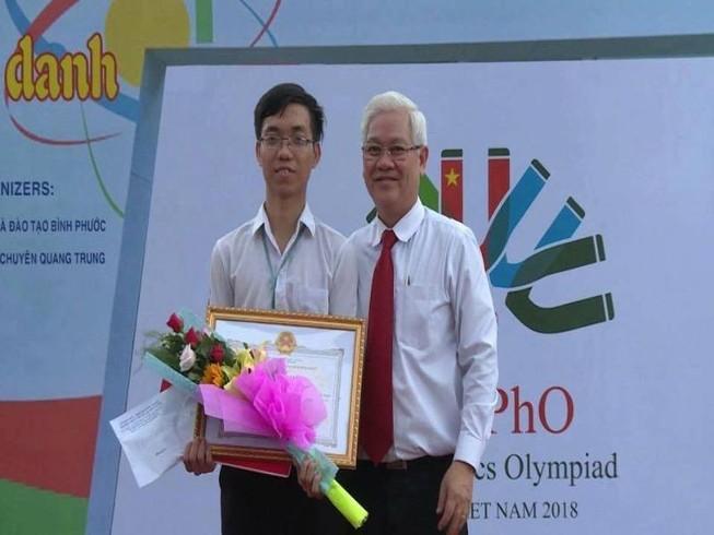 Bình Phước vinh danh HS đoạt HC vàng Olympic vật lý châu Á